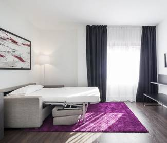 Habitación triple hotel ilunion suites madrid